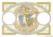 50 francs Luc Olivier Merson (type 1927 modifié) – reverse