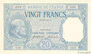 20 francs Bayard (type 1916) – obverse