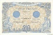 20 francs Bleu (type 1905) – obverse