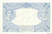 20 francs Bleu (type 1905) – reverse