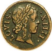 Denier Tournois - Louis XIV – obverse