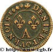 Denier Tournois - Louis XIV – reverse