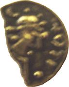 Trien ou sou d'or (mérovingienne V-VIème siècle) – obverse