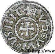 Denier - Louis I the Pious (Christian legend) – obverse