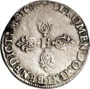 ½ Franc - Henri IV -  obverse