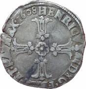¼ Ecu - Henri IV (2nd type) -  obverse