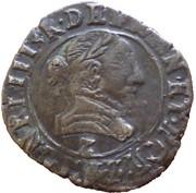 Double Tournois - Henri III (Dauphiné mint; 2nd type) – obverse