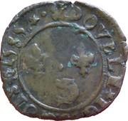 Double Tournois - Henri III (Dauphiné mint; 2nd type) – reverse