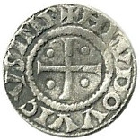 Denier - Louis I the Pious – obverse