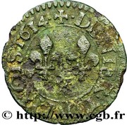 Denier Tournois - Louis XIII (Amiens) – reverse