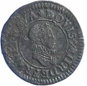 Denier Tournois - Louis XIII (Lyon; 1st type) – obverse