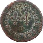 Denier Tournois - Louis XIII (Lyon; 2nd type) – reverse