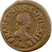 Denier Tournois - Louis XIII (Lyon; 3rd type) – obverse