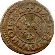 Denier Tournois - Louis XIII (Lyon; 3rd type) – reverse