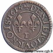 Denier Tournois - Louis XIII (Nantes; 1st type) – reverse