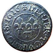 Denier Tournois - Louis XIII (Nantes; 2nd type) – reverse