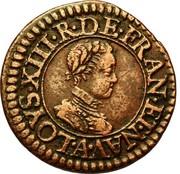 Denier Tournois - Louis XIII (Paris; 1st type) – obverse