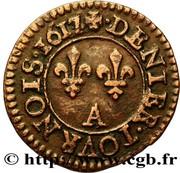 Denier Tournois - Louis XIII (Paris; 1st type) – reverse