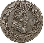 Denier Tournois - Louis XIII (Paris mint; 3rd type) – obverse