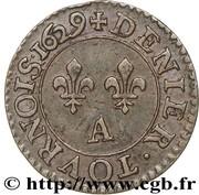 Denier Tournois - Louis XIII (Paris mint; 3rd type) – reverse