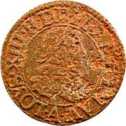 Denier Tournois - Louis XIII (Paris mint; 4th type) – obverse