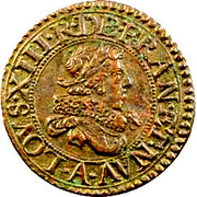 Denier Tournois - Louis XIII (Paris mint; 5th type) – obverse