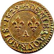 Denier Tournois - Louis XIII (Paris mint; 5th type) – reverse