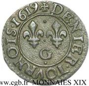 Denier Tournois - Louis XIII (Poitiers; 1st type) – reverse
