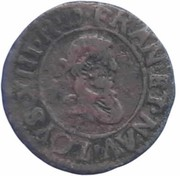Denier Tournois - Louis XIII (Riom; 1st type) – obverse