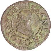 Denier Tournois - Louis XIII (Riom mint; 2nd type) – obverse