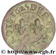 Denier Tournois - Louis XIII (Riom mint; 2nd type) – reverse