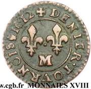 Denier Tournois - Louis XIII (Toulouse) – reverse