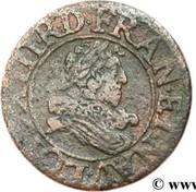 Denier Tournois - Louis XIII (Tours mint) – obverse