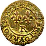 Denier Tournois - Louis XIII (Villeneuve; 2nd type) – reverse