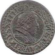 Denier Tournois - Louis XIII (Villeneuve mint; 3rd type) – obverse