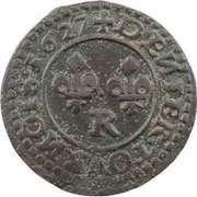 Denier Tournois - Louis XIII (Villeneuve mint; 3rd type) – reverse