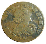 1610-1643 FRANCE Louis XIII Double Tournois Rare Medieval French Coin