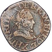 Double Tournois - Henri III (Amiens mint) – obverse