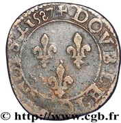Double Tournois - Henri III (Amiens mint) – reverse