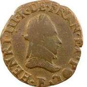 Double Tournois - Henri III (Angers mint) – obverse