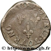 Double Tournois - Henri III (Angers mint; 2nd type) – reverse