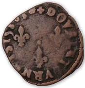 Double Tournois - Henri III (Bayonne mint; left portrait) – reverse