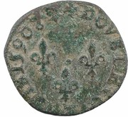Double Tournois - Henri III (Bayonne mint; right portrait) – reverse