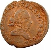 Double Tournois - Henri III (Bordeaux mint; 1st type) – obverse