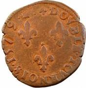 Double Tournois - Henri III (Bordeaux mint; 1st type) – reverse
