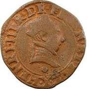 Double Tournois - Henri III (Bourges mint) – obverse