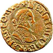 Double Tournois - Henri III (Dijon mint; 1st type) – obverse