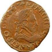 Double Tournois - Henri III (Dijon mint; 3rd type) – obverse