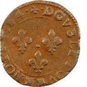 Double Tournois - Henri III (Dijon mint; 3rd type) – reverse
