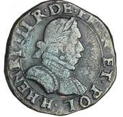 Double Tournois - Henri III (La Rochelle mint; 1st type) – obverse